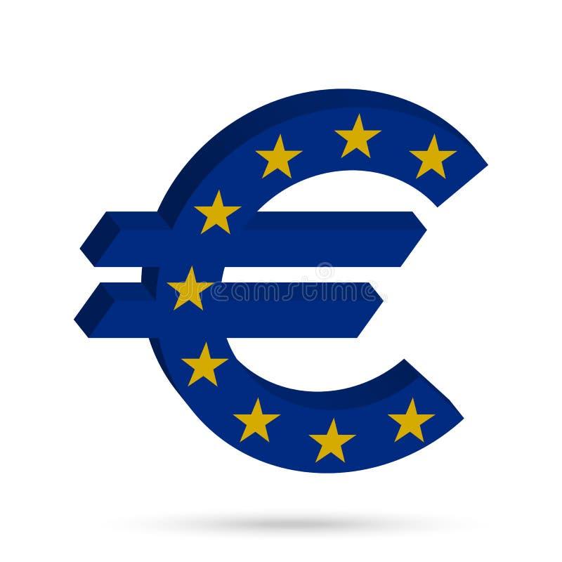 Окружите знак евро иллюстрация штока