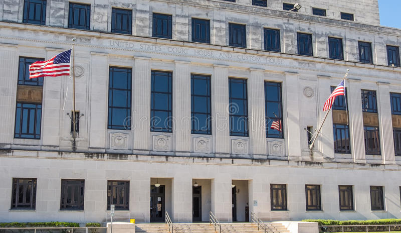 Окружной суд Соединенных Штатов в передвижной Алабаме стоковые фото