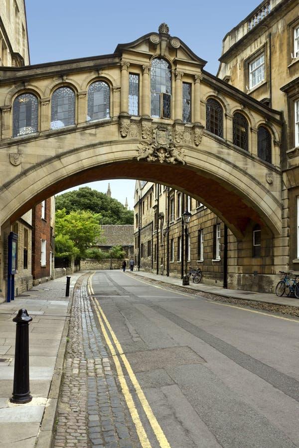 Оксфорд - мост вздохов - Великобритания стоковые изображения
