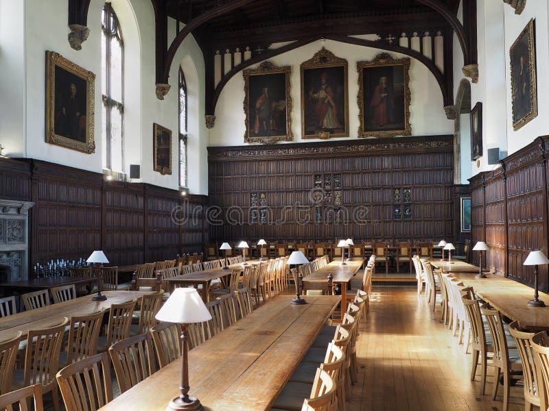 Оксфордский университет, столовая коллежа Магдалена стоковая фотография