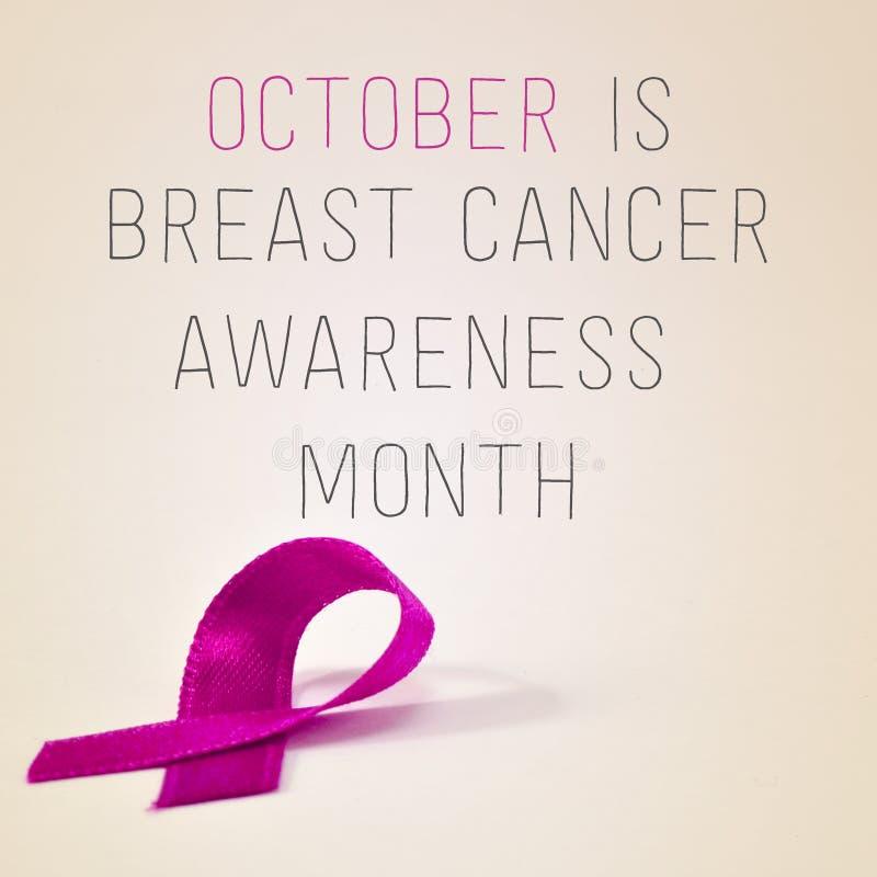Октябрь месяц осведомленности рака молочной железы стоковые фото