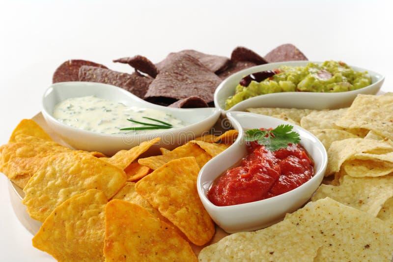 окунает tacos стоковое изображение rf