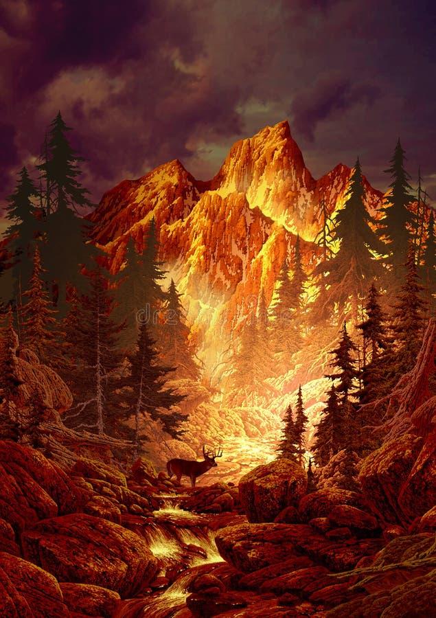 олени каньона иллюстрация вектора