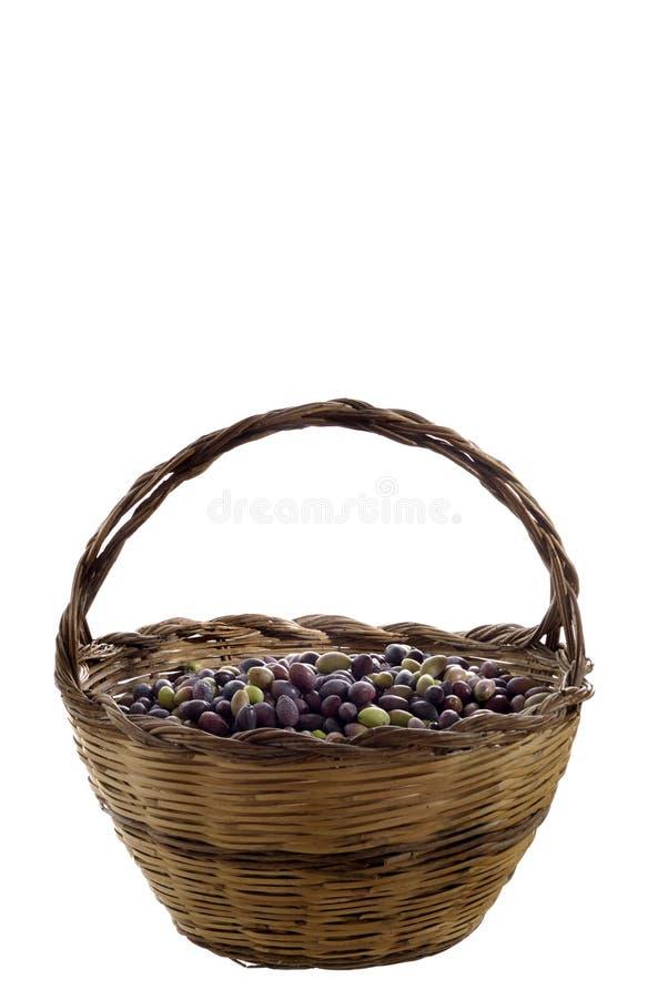 Download оливка корзины стоковое фото. изображение насчитывающей еда - 6858134
