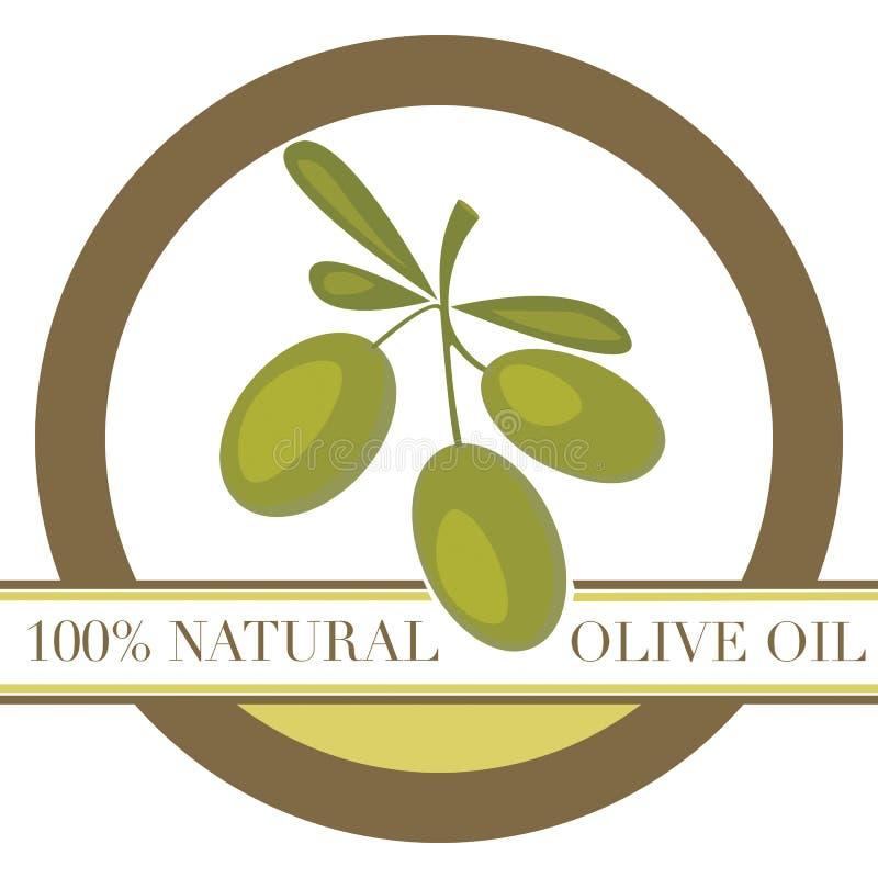 оливка масла ярлыка бесплатная иллюстрация