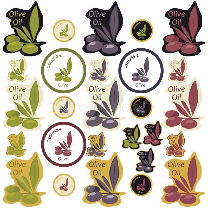 оливка масла ярлыка иллюстрация штока