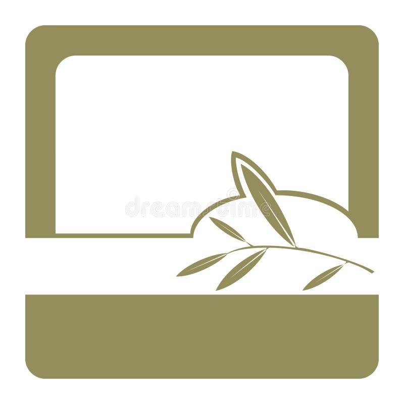 оливка olil ярлыка иллюстрация вектора
