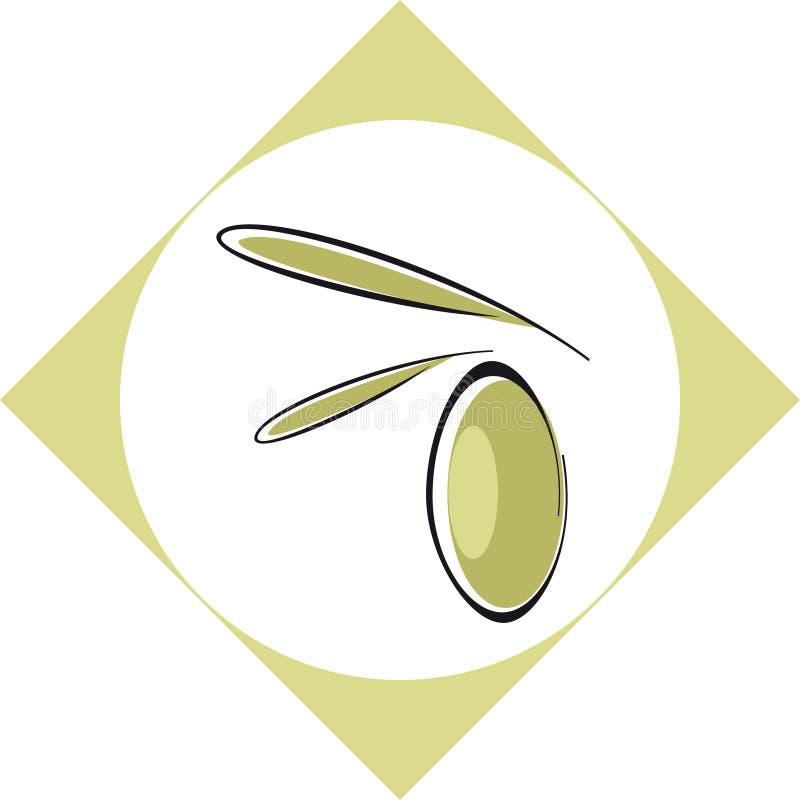 оливка olil ярлыка иллюстрация штока