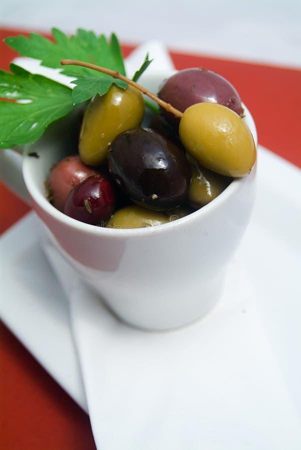 Оливки в шаре стоковое фото