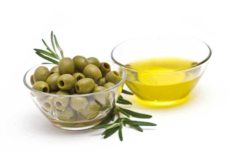 оливки оливки зеленого масла стоковые фотографии rf