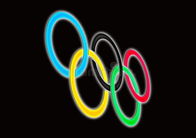 олимпийские кольца Редакционное Фотография