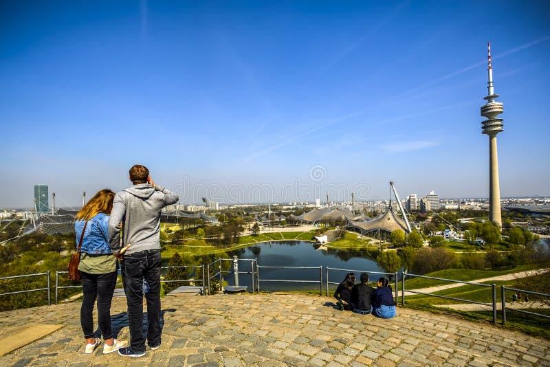 Олимпийский парк в Мюнхене, Германии стоковое фото rf