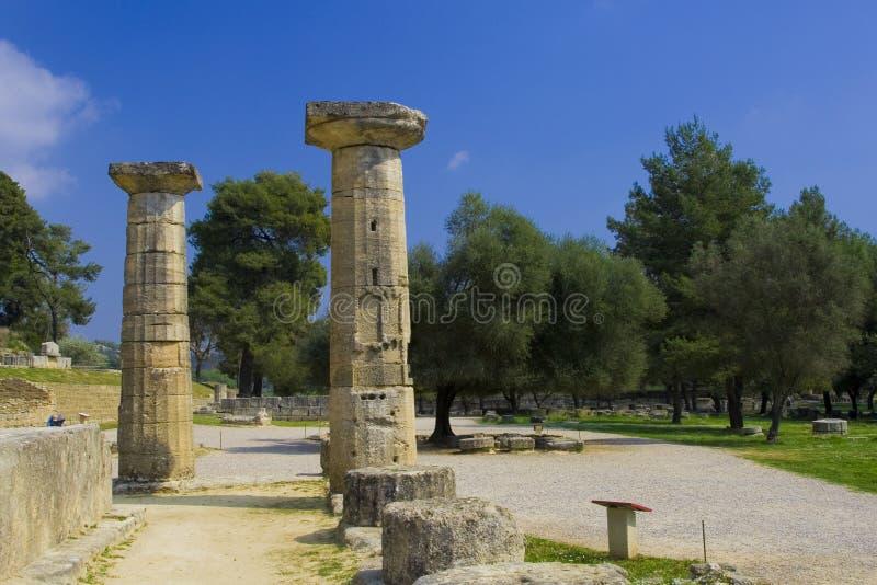 Олимпия акрополя стоковое изображение