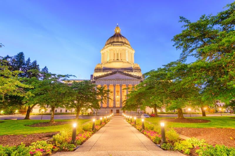 Олимпия, Вашингтон, США заявляет здание капитолия стоковые изображения