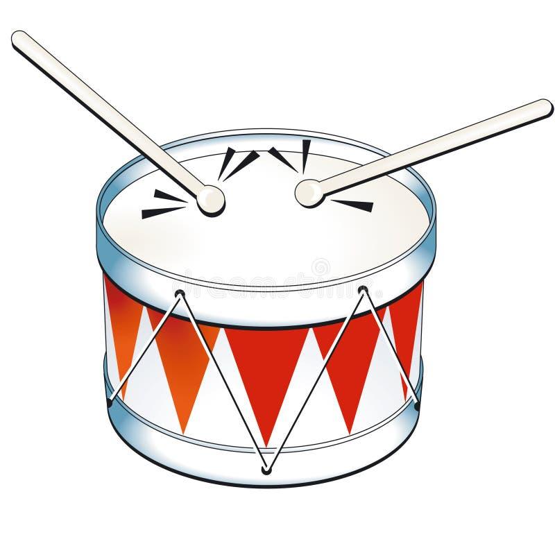 олово барабанчика иллюстрация штока