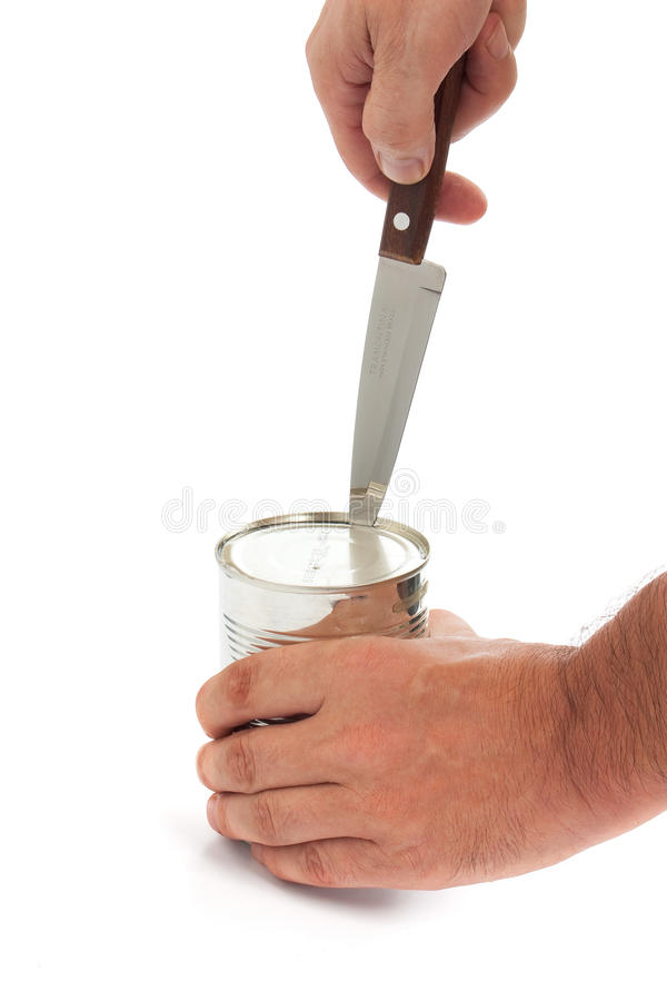 олово отверстия металла ножа стоковое изображение rf