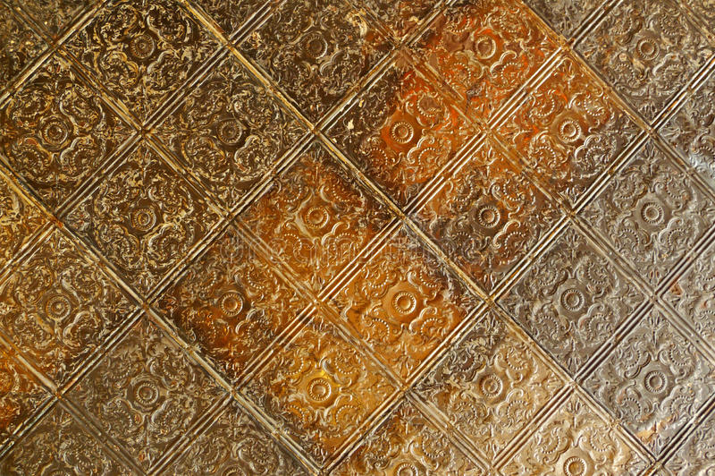 олово плиток потолка выбитое столетием девятнадцатое стоковое изображение rf