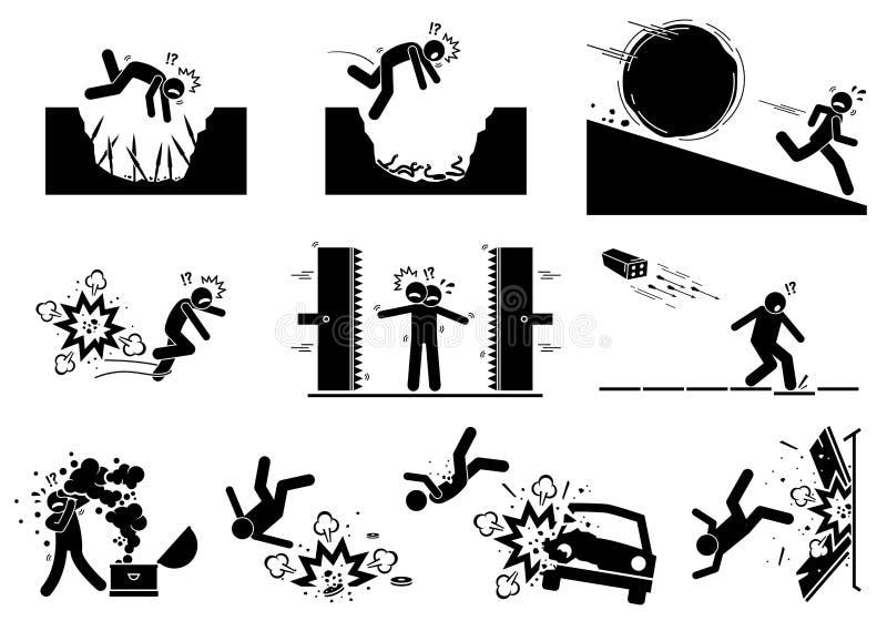 Олух - значки и силуэт ловушки бесплатная иллюстрация