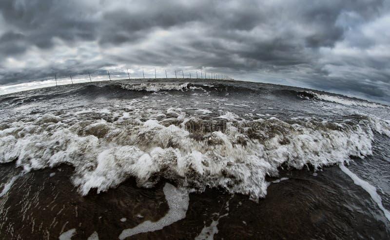 ломать волну берега океана стоковая фотография rf