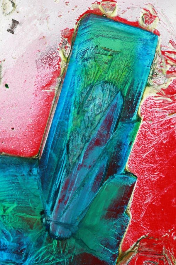 омедняйте сульфат кристаллов стоковое изображение rf