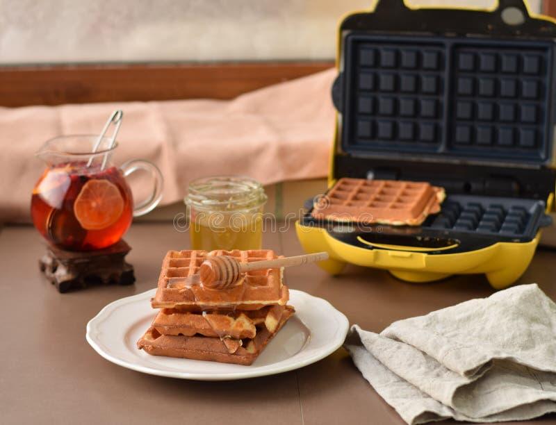 домодельные waffles стоковая фотография rf