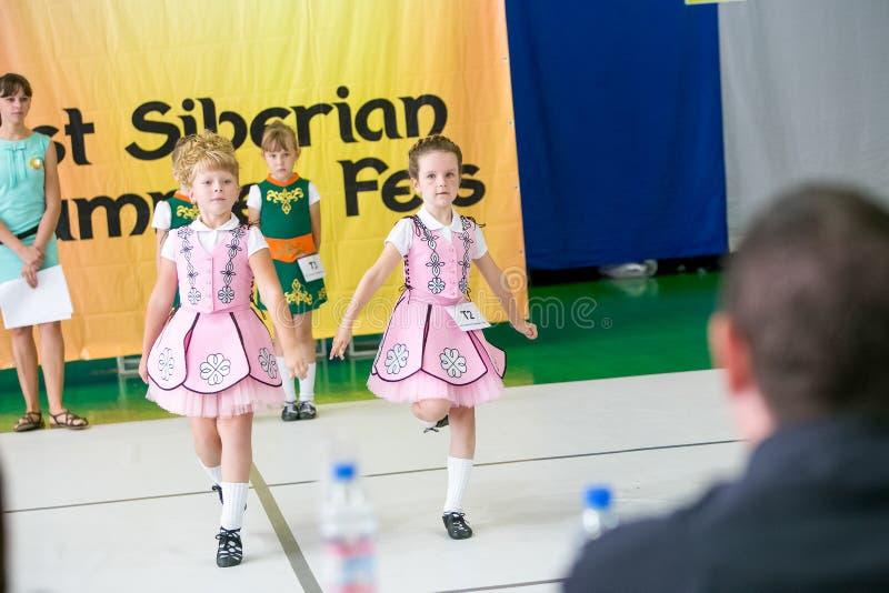 Омск, Россия - 22-ое августа 2015: Танец Ирландского международной конкуренции стоковые изображения rf