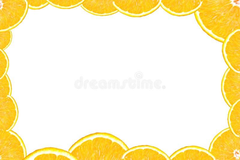 ломтик померанца рамки иллюстрация штока