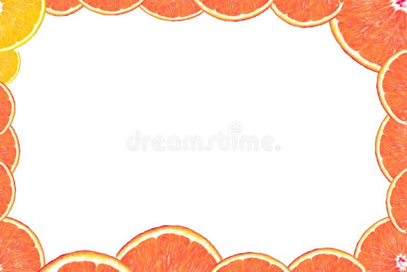 ломтик померанца рамки бесплатная иллюстрация