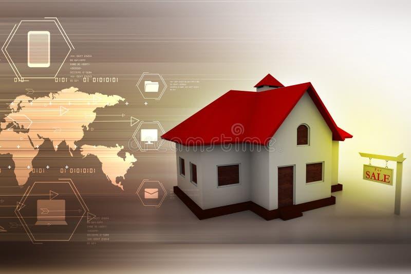 дом дома принципиальной схемы предпосылки изолированная над белизной иллюстрация штока