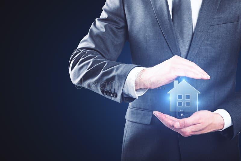 дом доллара принципиальной схемы 100 счетов сделала ипотеку вне стоковое фото rf