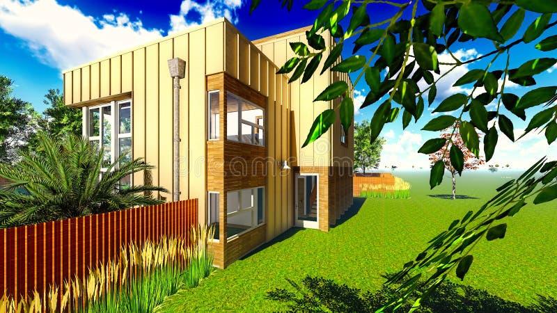 дом сада иллюстрация вектора