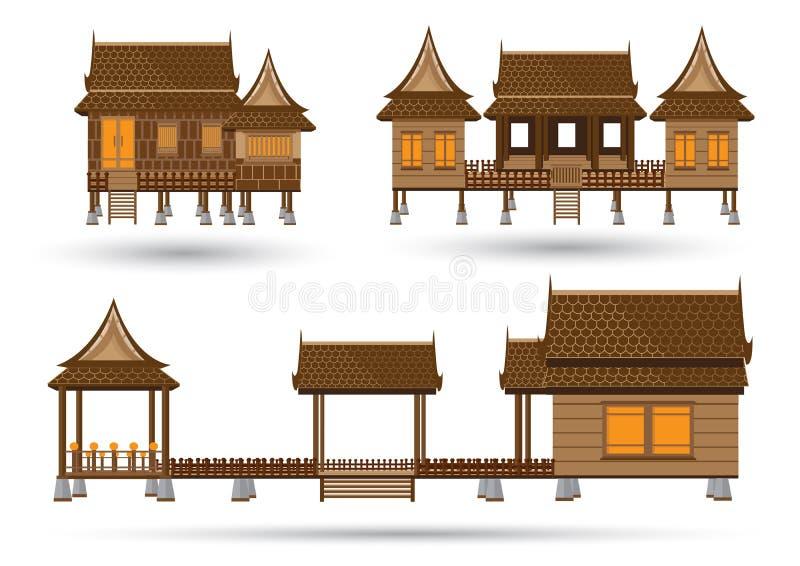дом тайская иллюстрация вектора