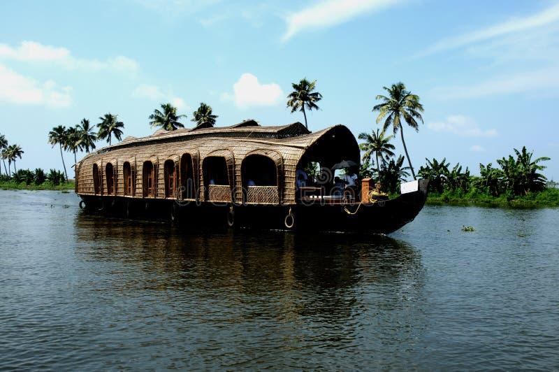 дом шлюпки Керала стоковое фото