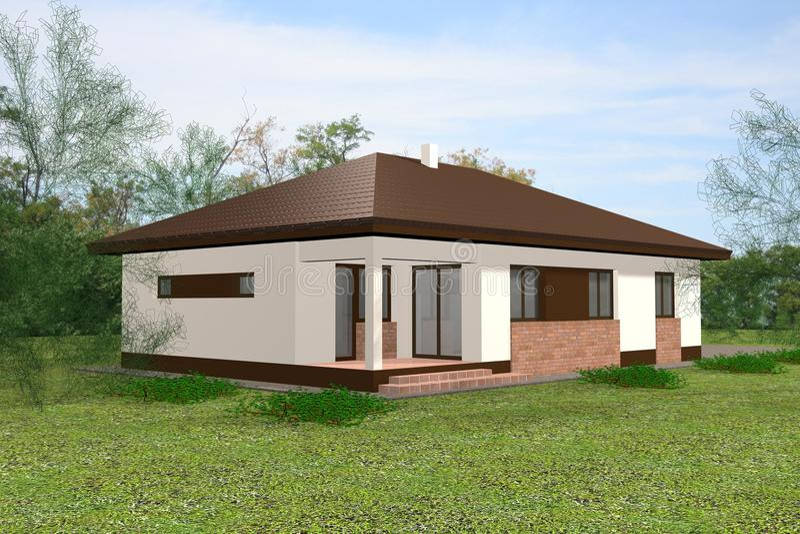 дом 3d представляет стоковые изображения rf