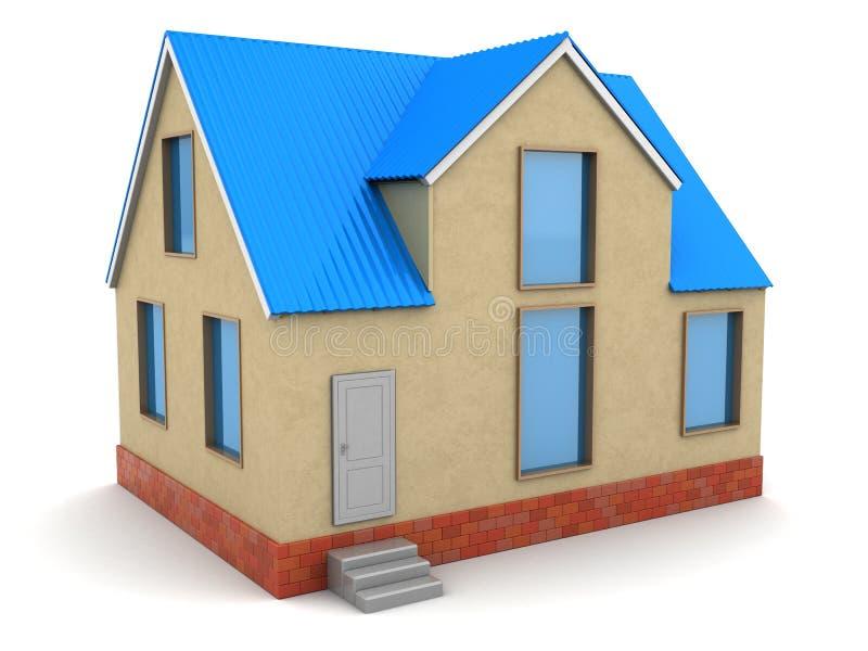 дом 3d иллюстрация штока