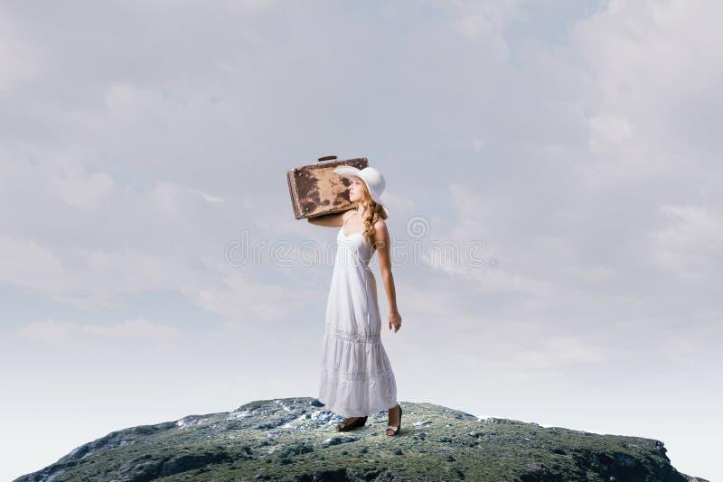 Она путешествует свет стоковые фотографии rf