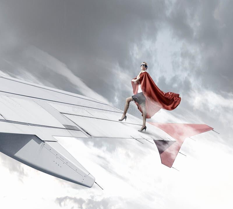 Она супергерой Мультимедиа стоковые изображения rf