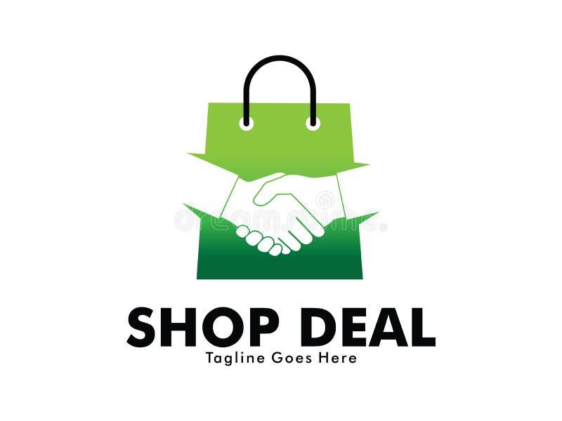 Онлайн дизайн логотипа рукопожатия дела магазина бесплатная иллюстрация