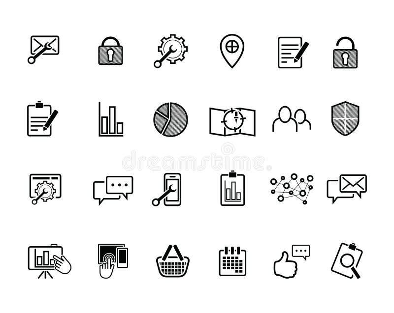 Онлайн значки значка и дела сети бесплатная иллюстрация