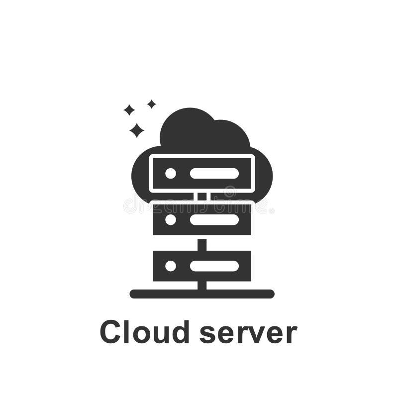 Онлайн маркетинг, значок сервера облака r r r иллюстрация вектора