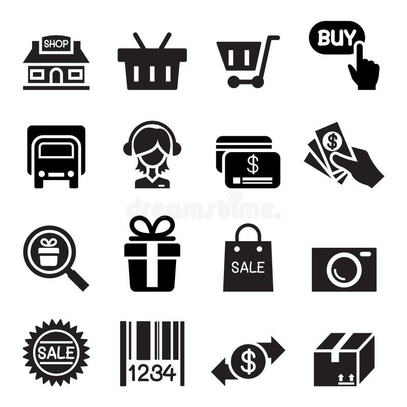 Онлайн значок покупок иллюстрация вектора