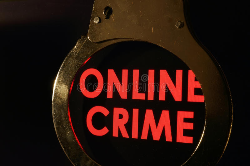 Онлайн злодеяние стоковое фото