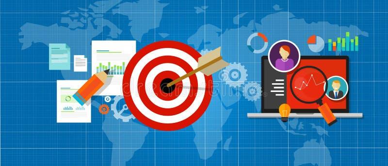 Онлайн измерение стратегии управляет картой с целеуказаниями интернет-трафика бесплатная иллюстрация
