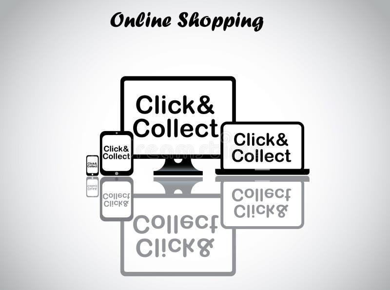 Онлайн иллюстрация вектора дизайна концепции покупок бесплатная иллюстрация