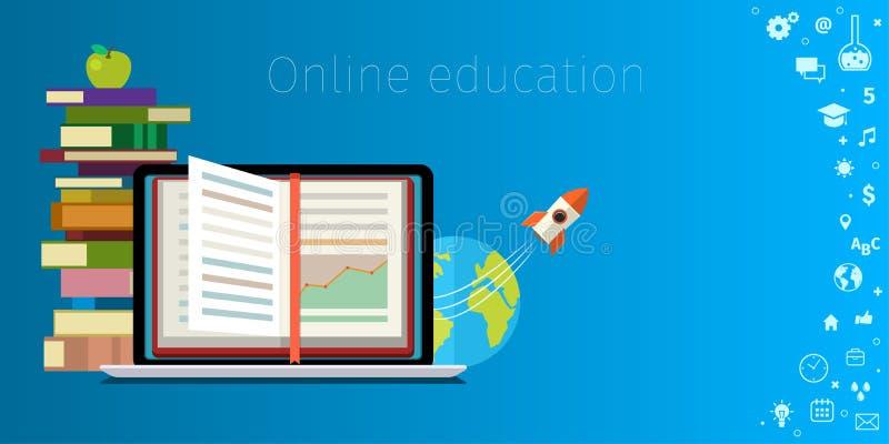 Онлайн концепция образования иллюстрация вектора