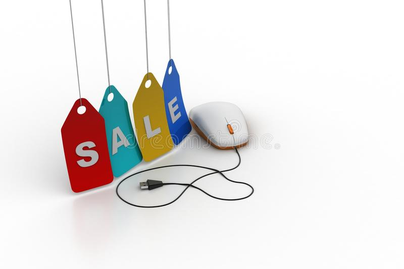 Онлайн концепция продаж бесплатная иллюстрация