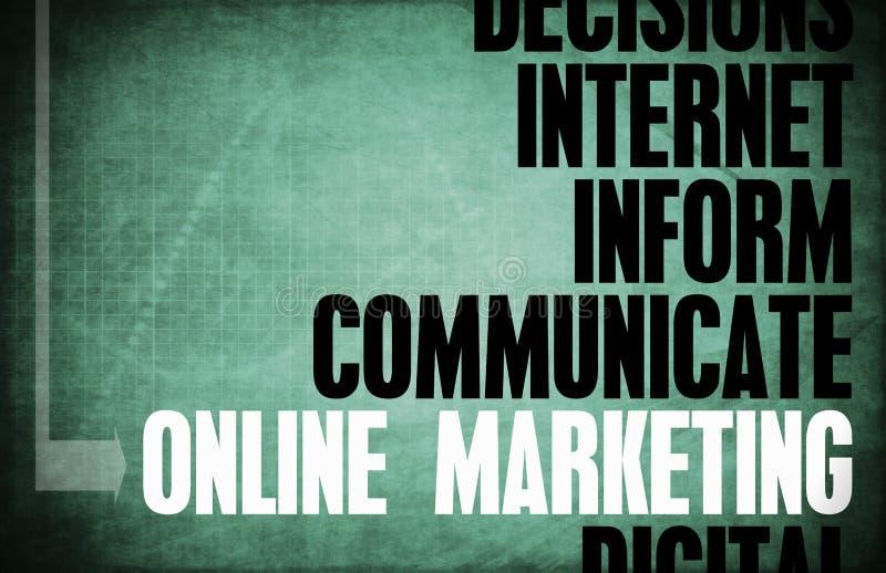 Онлайн маркетинг иллюстрация штока