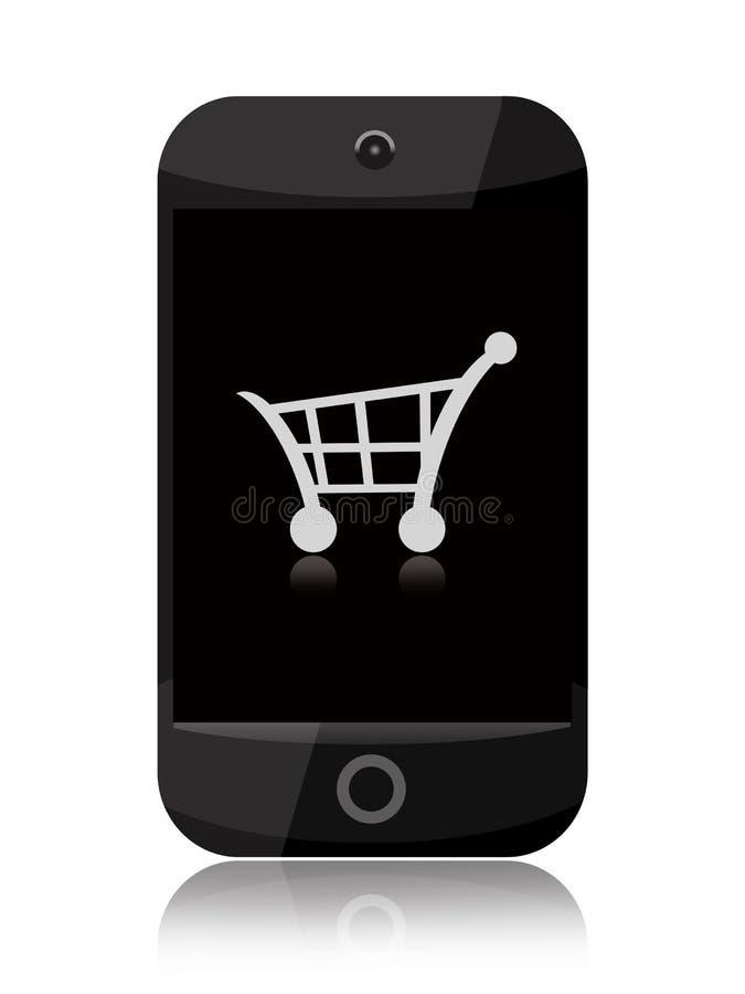 Онлайн покупки иллюстрация штока