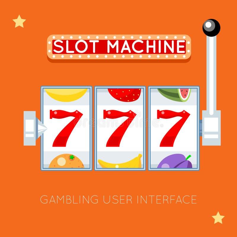 Онлайн торговый автомат Пользовательский интерфейс вектора играя в азартные игры иллюстрация вектора