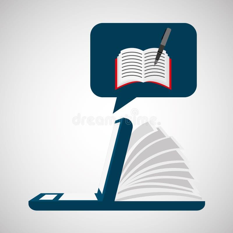 Онлайн уча образование сочинительства иллюстрация штока
